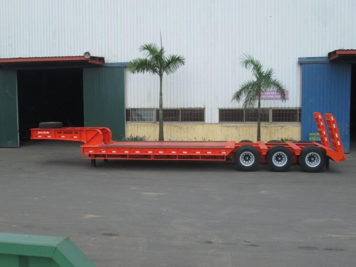 Doosung bán Rơ Mooc Phooc Lùn 14 m, sàn 6 m, tải 65 tấn Sơ mi rơ moóc tải (chở xe, máy chuyên dùng)