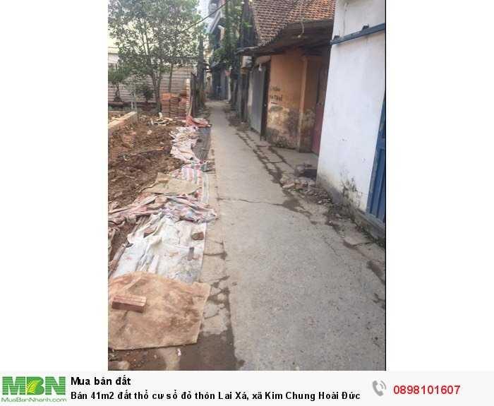 Bán 41m2 đất thổ cư sổ đỏ thôn Lai Xá, xã Kim Chung Hoài Đức