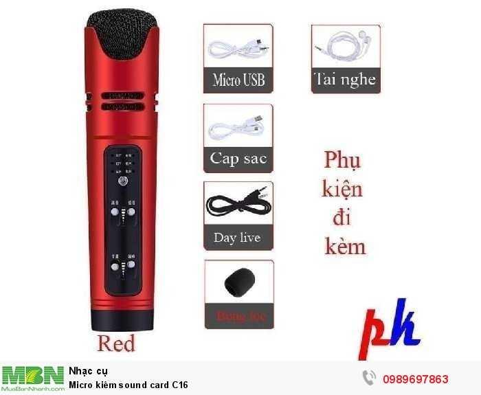 Micro kiêm sound card C160