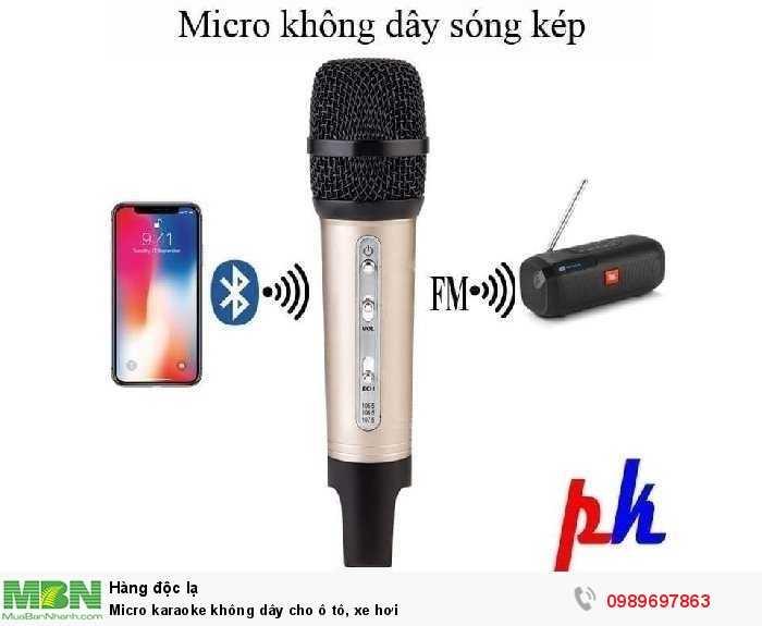 Micro karaoke không dây cho ô tô, xe hơi0