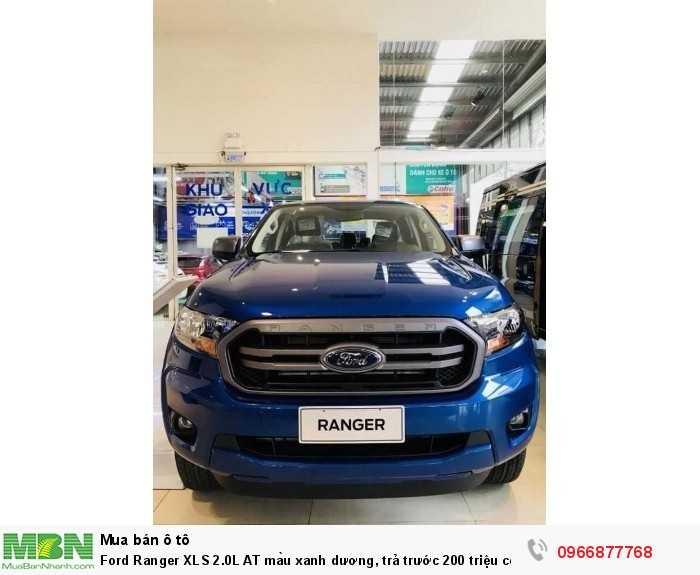 Ford Ranger XLS 2.0L AT màu xanh dương, trả trước 200 triệu có xe giao ngay tại Ford Gia Định - Gọi ngay 0966877768 (MrHải 24/24)