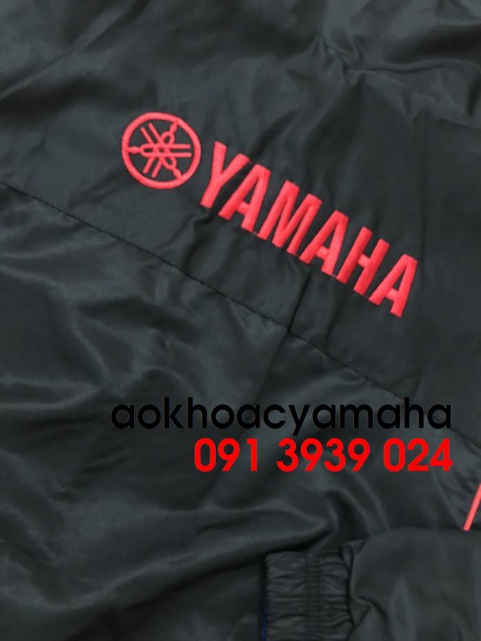 Sỉ lẻ áo khoác Yamaha 2 mặt, áo khoác Yamaha đỏ đen12