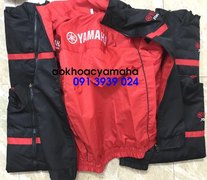 Sỉ lẻ áo khoác Yamaha 2 mặt, áo khoác Yamaha đỏ đen10