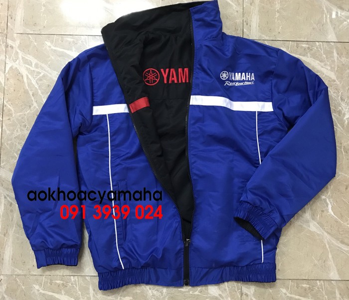 Sỉ lẻ áo khoác Yamaha 2 mặt, áo khoác Yamaha đỏ đen