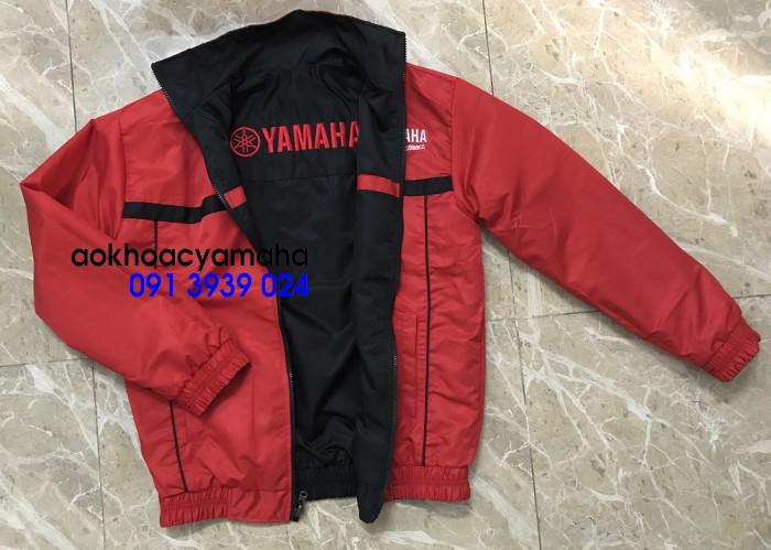 Sỉ lẻ áo khoác Yamaha 2 mặt, áo khoác Yamaha đỏ đen4