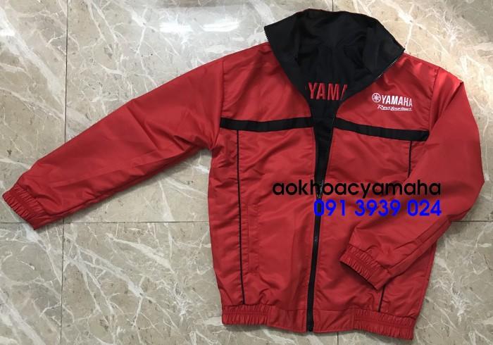 Sỉ lẻ áo khoác Yamaha 2 mặt, áo khoác Yamaha đỏ đen7