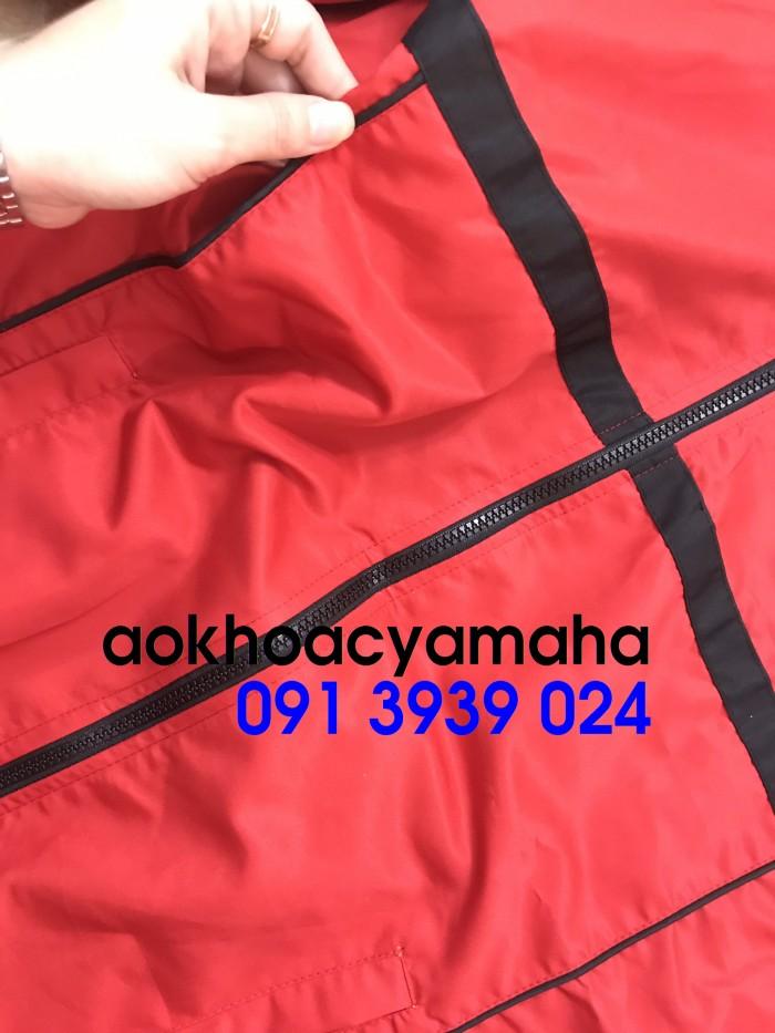Sỉ lẻ áo khoác Yamaha 2 mặt, áo khoác Yamaha đỏ đen1
