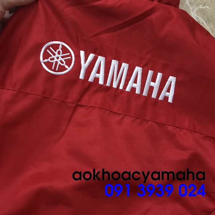 Sỉ lẻ áo khoác Yamaha 2 mặt, áo khoác Yamaha đỏ đen0