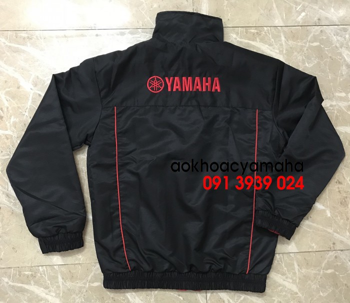 Áo khoác Yamaha bán lẻ, áo khoác đỏ đen Yamaha8