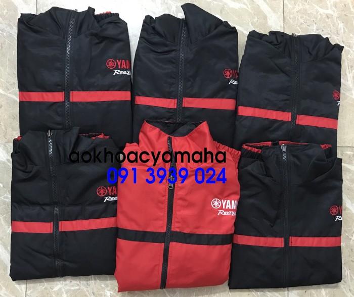 Áo khoác Yamaha bán lẻ, áo khoác đỏ đen Yamaha7