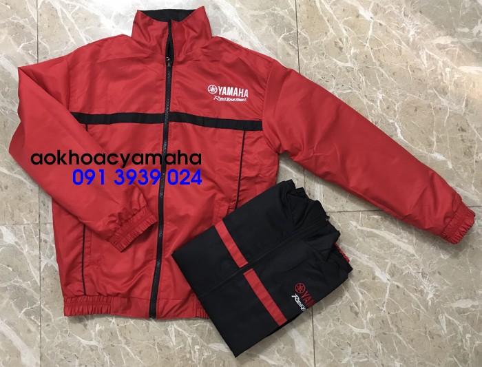 Áo khoác Yamaha bán lẻ, áo khoác đỏ đen Yamaha11