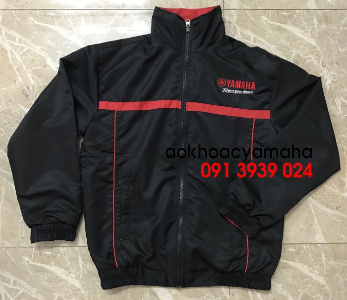 Áo khoác Yamaha bán lẻ, áo khoác đỏ đen Yamaha10