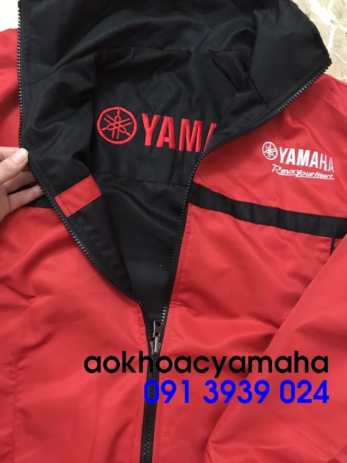 Áo khoác Yamaha bán lẻ, áo khoác đỏ đen Yamaha5