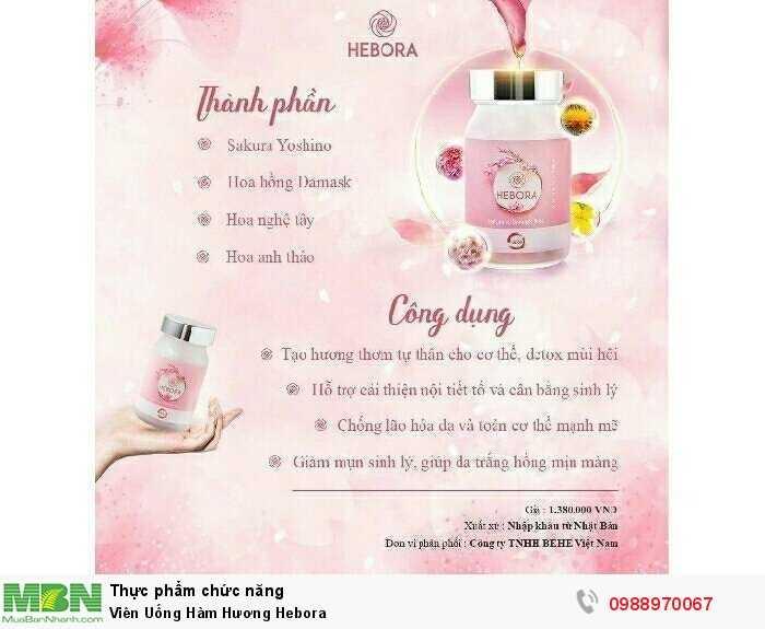 Viên Uống Hàm Hương Hebora