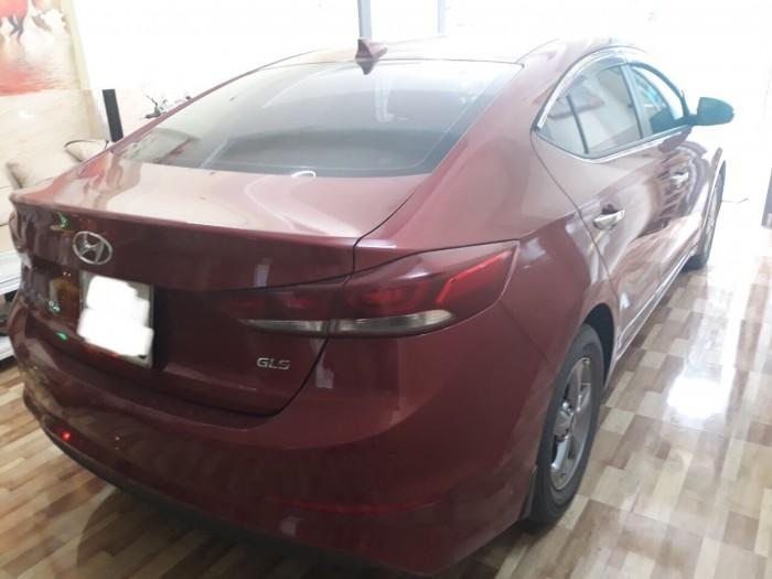 Bán Hyundai Elantra 1.6MT 2017, màu đỏ, đúng chất, giá TL, hổ trợ góp