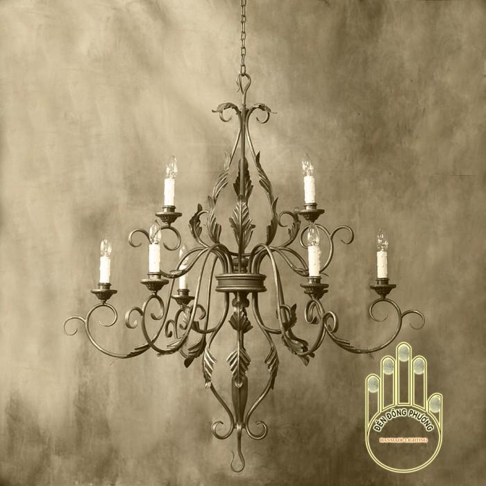 Đèn chùm sắt cổ điển mỹ thuật MS01024