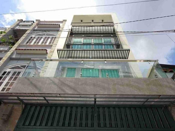 Nhà Đẹp. 4 lầu, HXH. ÂU Cơ, P10, Tân Bình. 4,5*14. Nở hậu.