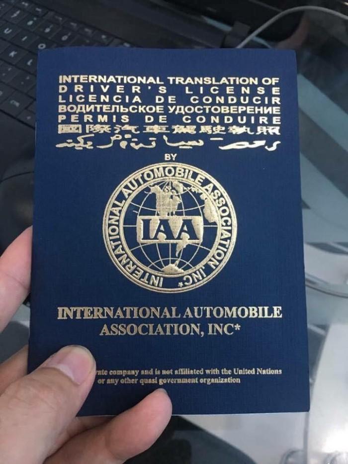 Giấy phép lái xe quốc tế Mỹ