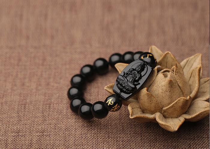 Bộ vòng đá tự nhiên hộ mệnh Như Lai Đại Phật hộ mệnh tuổi Mùi,Thân3