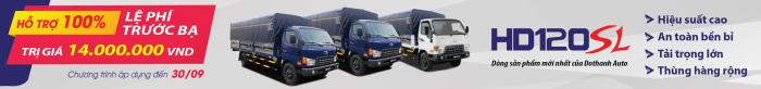 Xe tải Hyundai HD120SL tải trọng 8 tấn, thùng dài 6m3 giá cực tốt, nhiều quà tặng, khuyến mãi hấp dẫn, tặng ngay 14tr thuế trước bạ, trả trước 120tr giao xe ngay 14