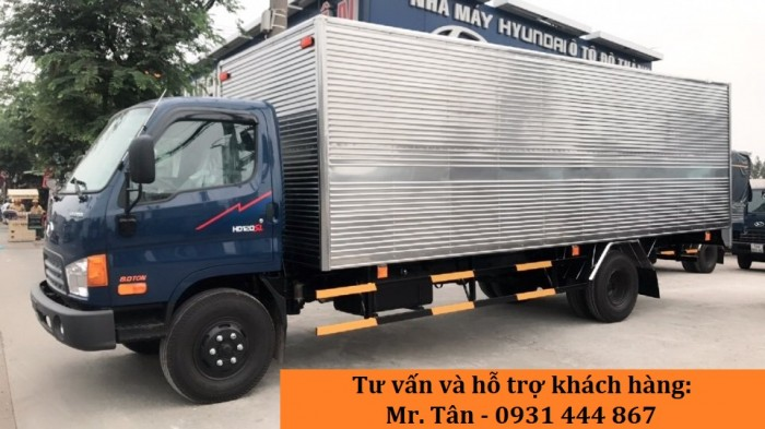 Xe tải Hyundai HD120SL tải trọng 8 tấn, thùng dài 6m3 giá cực tốt, nhiều quà tặng, khuyến mãi hấp dẫn, tặng ngay 14tr thuế trước bạ, trả trước 120tr giao xe ngay 3
