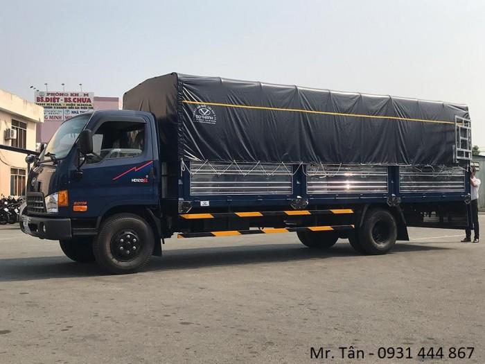 Xe tải Hyundai HD120SL tải trọng 8 tấn, thùng dài 6m3 giá cực tốt, nhiều quà tặng, khuyến mãi hấp dẫn, tặng ngay 14tr thuế trước bạ, trả trước 120tr giao xe ngay
