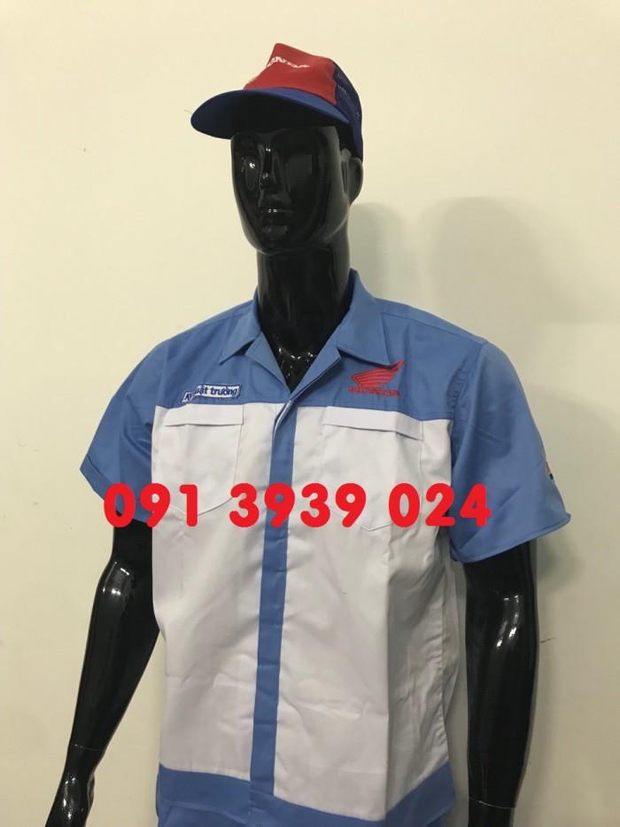 Đồng phục thợ Honda, đồng phục xe máy giá rẻ14