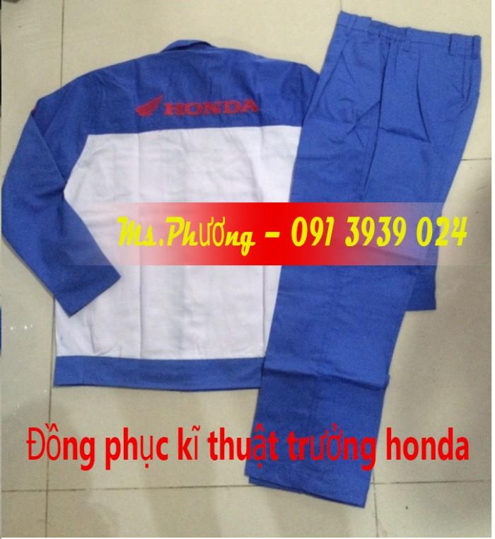 Đồng phục thợ Honda, đồng phục xe máy giá rẻ12