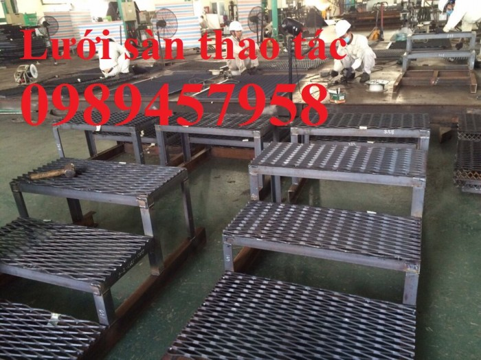 Lưới dập giãn, lưới kéo giãn, lưới hình thoi, lưới mắt cáo 30x60x3ly, 45x90x3ly14