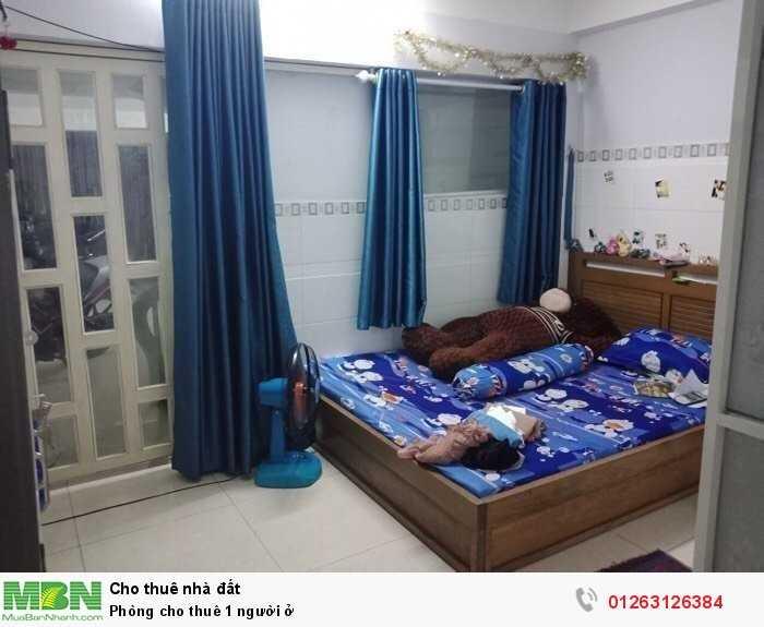 Phòng cho thuê 1 người ở