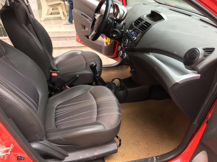Bán Chevrolet Spark LT 1.2MT màu đỏ số sàn sản xuất 2016 biển tỉnh đi 40.000km