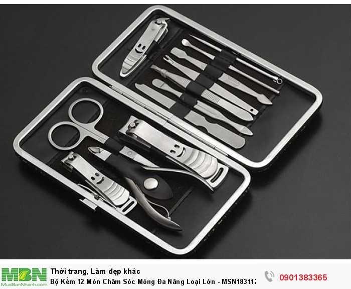 Với rất nhiều công dụng như: làm sạch móng, giũa móng, bấm móng… bộ kềm 12...
