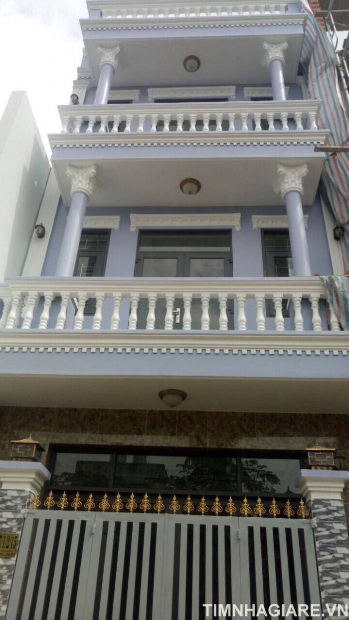 Nhà hẻm 2177 Huỳnh Tấn Phát, Nhà Bè, DT 5m x10m, nhà phố 3 lầu đúc, sân thượng, hướng ĐN