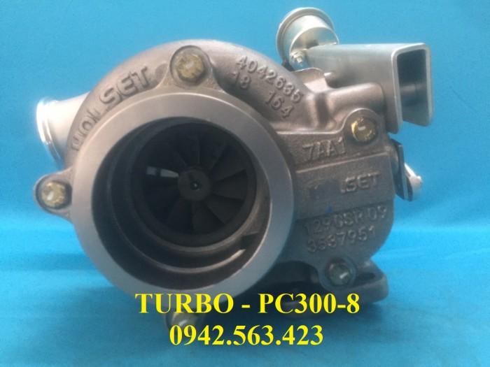 Turbo tăng áp lắp Komatsu PC300-8 2