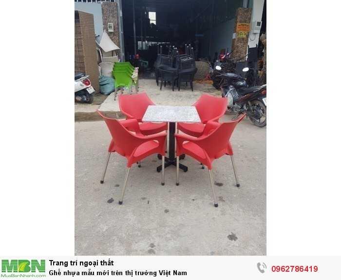 Ghế nhựa mẫu mới trên thị trường Việt Nam
