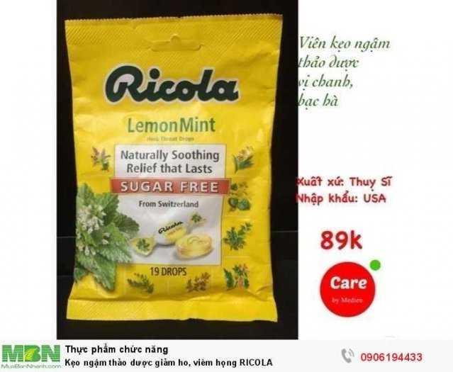 Kẹo ngậm thảo dược giảm ho, viêm họng RICOLA0