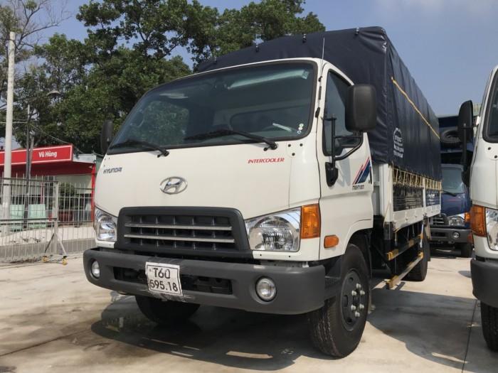 Khuyến mãi mua xe tải Hyundai Mighty 8 tấn thùng mui bạt, trả trước 100 triệu...