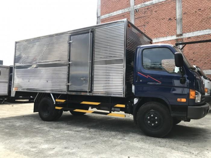 Mua trả góp xe tải Hyundai Mighty 8 tấn thùng kín inox, trả trước 100 triệu giao luôn xe tại Hyundai Vũ Hùng - Hotline: 0933638116 (MrHùng 24/24)