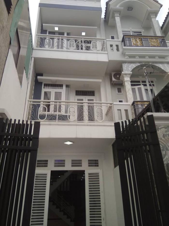 Bán căn nhà 2 Lầu, SHR, mặt tiền đường Lý Thường Kiệt, Hóc Môn