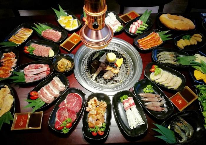 Bếp nướng than hoa âm bàn hút dương Hàn Quốc1