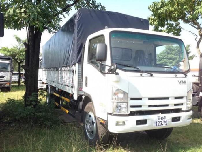 xe tải isuzu VM thùng dài 7m, tải 8.2 tấn , trả góp 90% giá trị xe 4