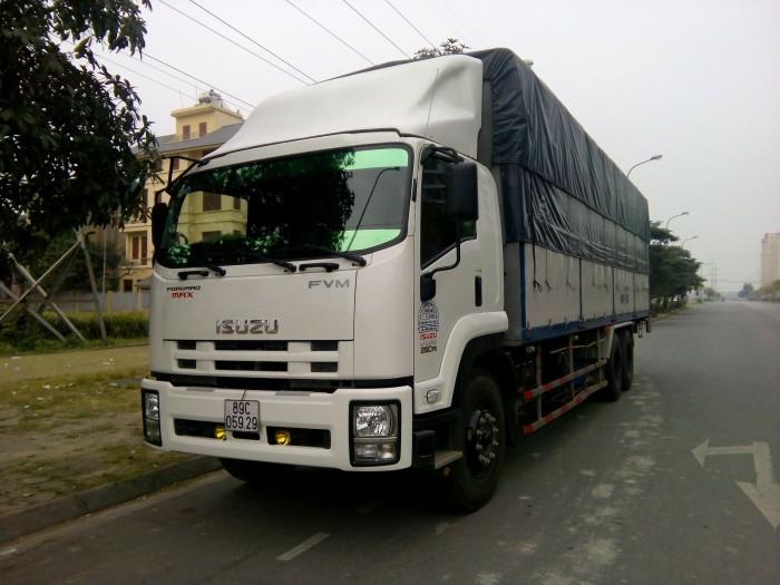 xe tải isuzu VM thùng dài 7m, tải 8.2 tấn , trả góp 90% giá trị xe 1