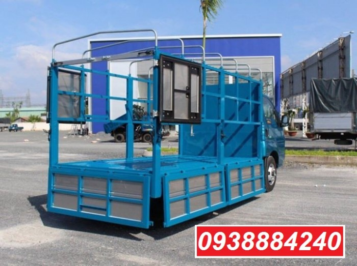 Bán trả góp xe tải Kia-Hyundai 2 tấn 4 Kia K250/ Kia Thaco New Frontier K250 thùng bạt mở 5 bửng tại Long An, Tiền Giang, Bến Tre