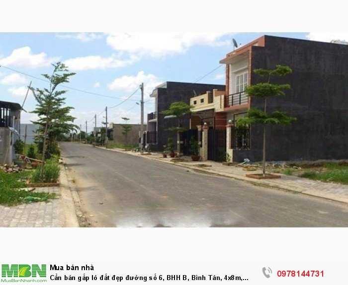 Cần bán gấp lô đất đẹp đường số 6, BHH B, Bình Tân, 4x8m