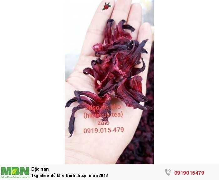 1kg atiso đỏ khô_hibiscus khô mùa 2018