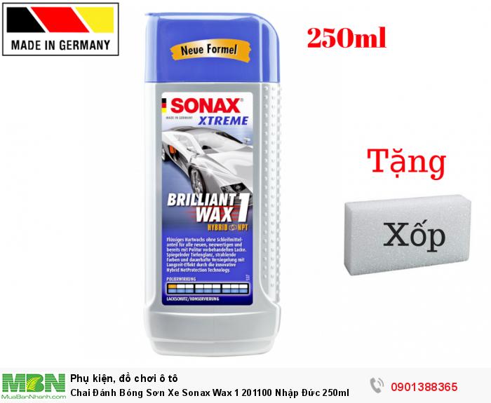 Chai Đánh Bóng Sơn Xe Sonax Wax 1 201100 Nhập Đức 250ml