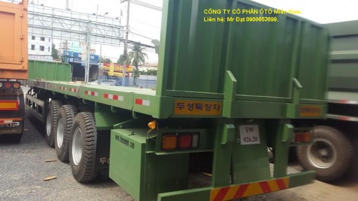 Bán Sơ Mi rơ Mooc Rút(chở thép ống, thép thanh), 14,3M đến 21,3M,giá rẻ toàn quốc.