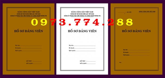 Bì, bìa, túi, vỏ đựng bộ hồ sơ Đảng viên27