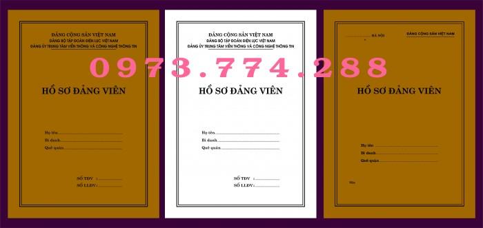 Bì, bìa, túi, vỏ đựng bộ hồ sơ Đảng viên26
