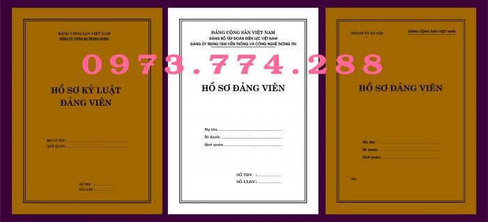 Bì, bìa, túi, vỏ đựng bộ hồ sơ Đảng viên24